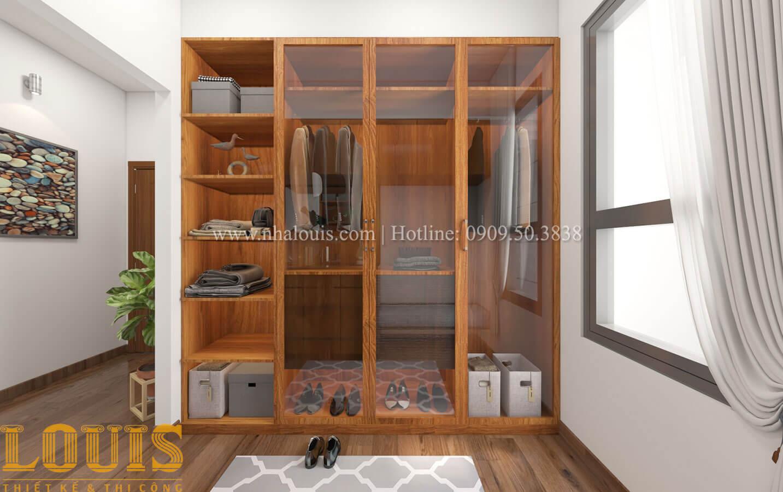 Phòng ngủ con trai Mẫu nhà 5 tầng đẹp hiện đại với thiết kế tối giản tại Tân Bình - 29