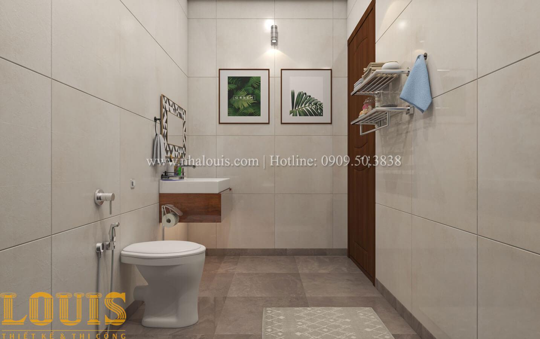 Phòng tắm và WC Mẫu nhà 5 tầng đẹp hiện đại với thiết kế tối giản tại Tân Bình - 30