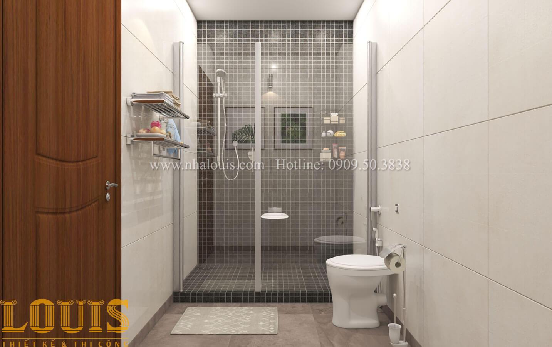 Phòng tắm và WC Mẫu nhà 5 tầng đẹp hiện đại với thiết kế tối giản tại Tân Bình - 31