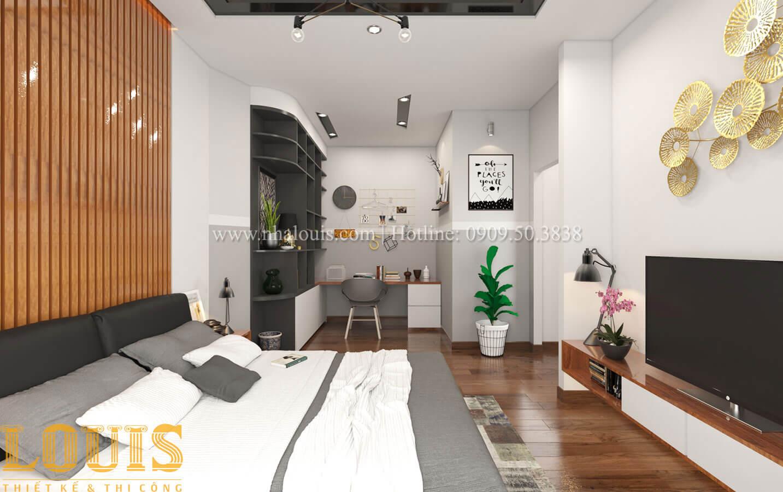 Phòng ngủ con trai Mẫu nhà 5 tầng đẹp hiện đại với thiết kế tối giản tại Tân Bình - 34