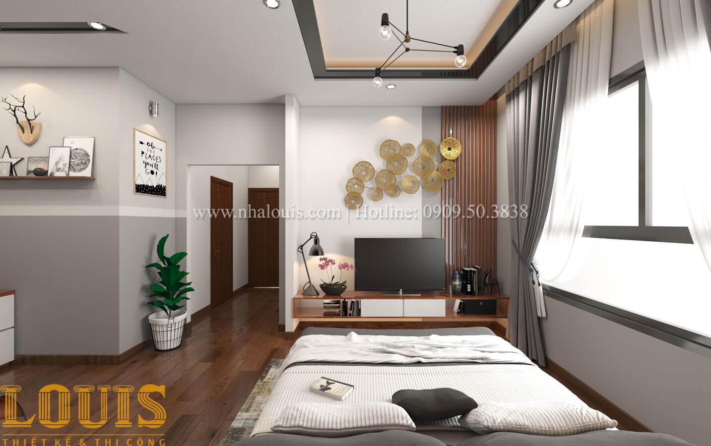 Phòng ngủ con trai Mẫu nhà 5 tầng đẹp hiện đại với thiết kế tối giản tại Tân Bình - 35