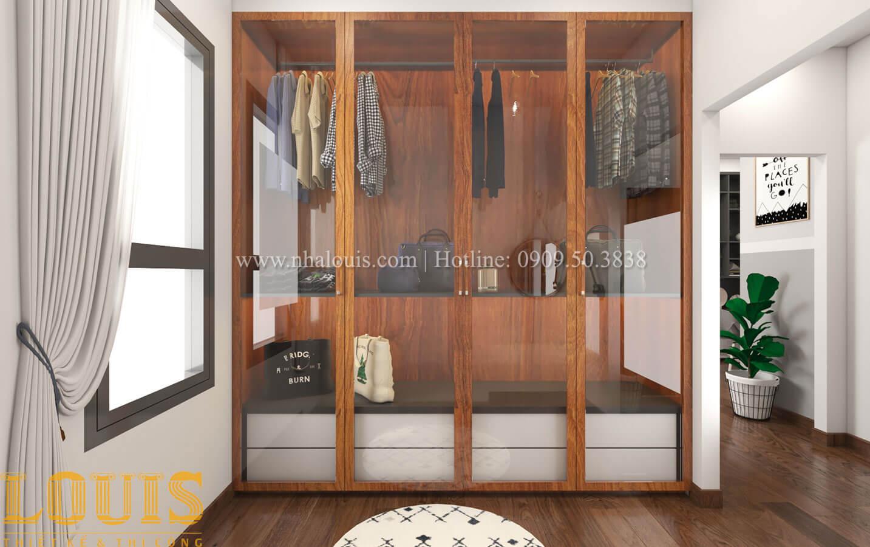 Phòng ngủ con trai Mẫu nhà 5 tầng đẹp hiện đại với thiết kế tối giản tại Tân Bình - 36