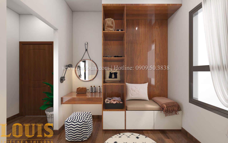Phòng ngủ con trai Mẫu nhà 5 tầng đẹp hiện đại với thiết kế tối giản tại Tân Bình - 37