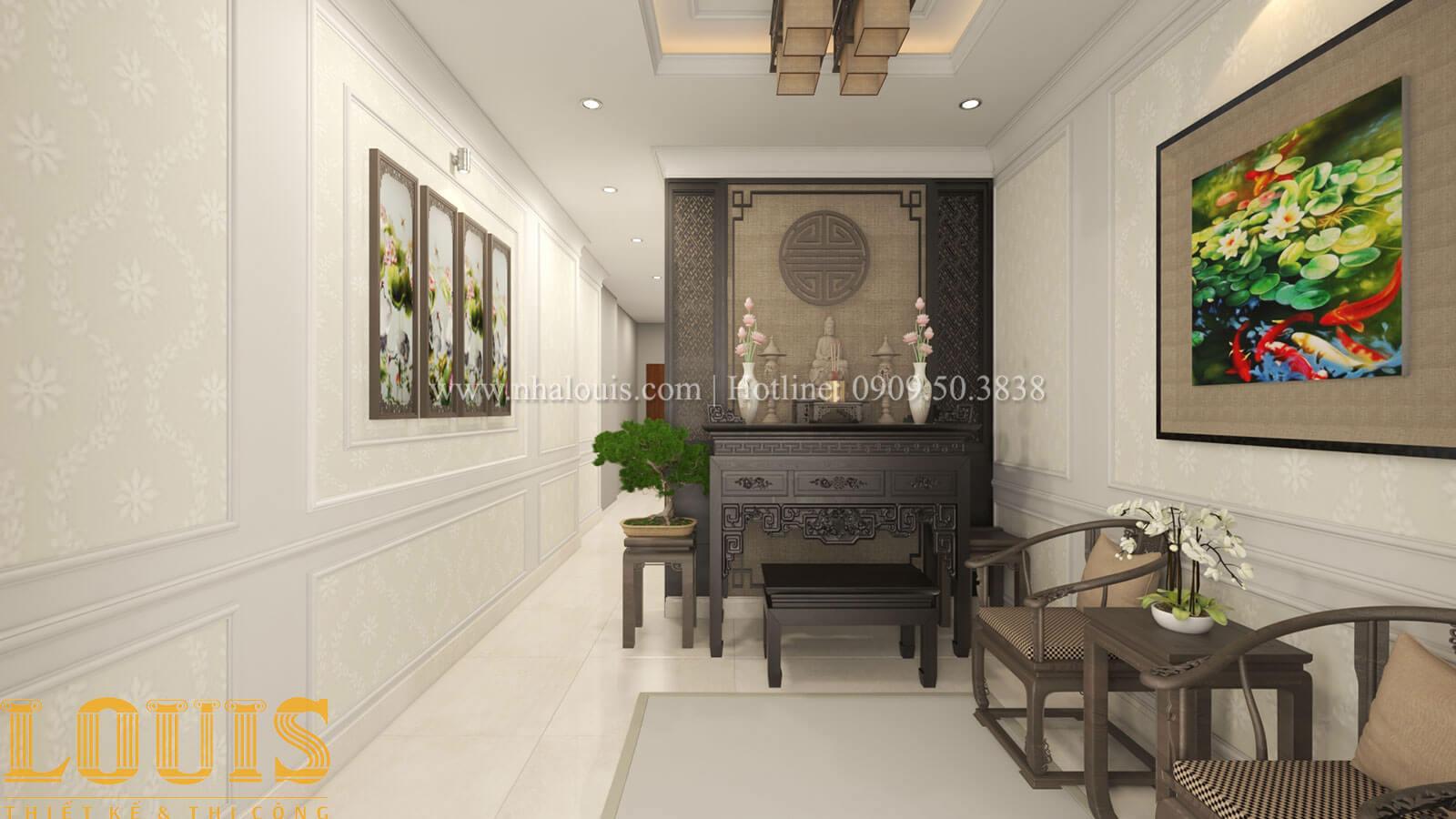 Phòng thờ Mẫu nhà 5 tầng đẹp hiện đại với thiết kế tối giản tại Tân Bình - 38