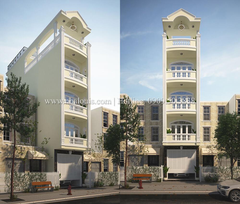 Mẫu nhà phố 5 tầng hiện đại tại Quận 6 đẹp giản đơn và bình dị