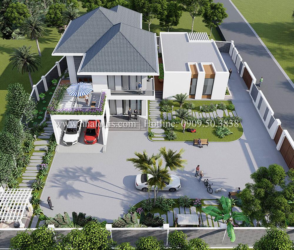 Phối cảnh 3D mẫu thiết kế biệt thự 2 tầng mái thái tại Phú Quốc [Video]