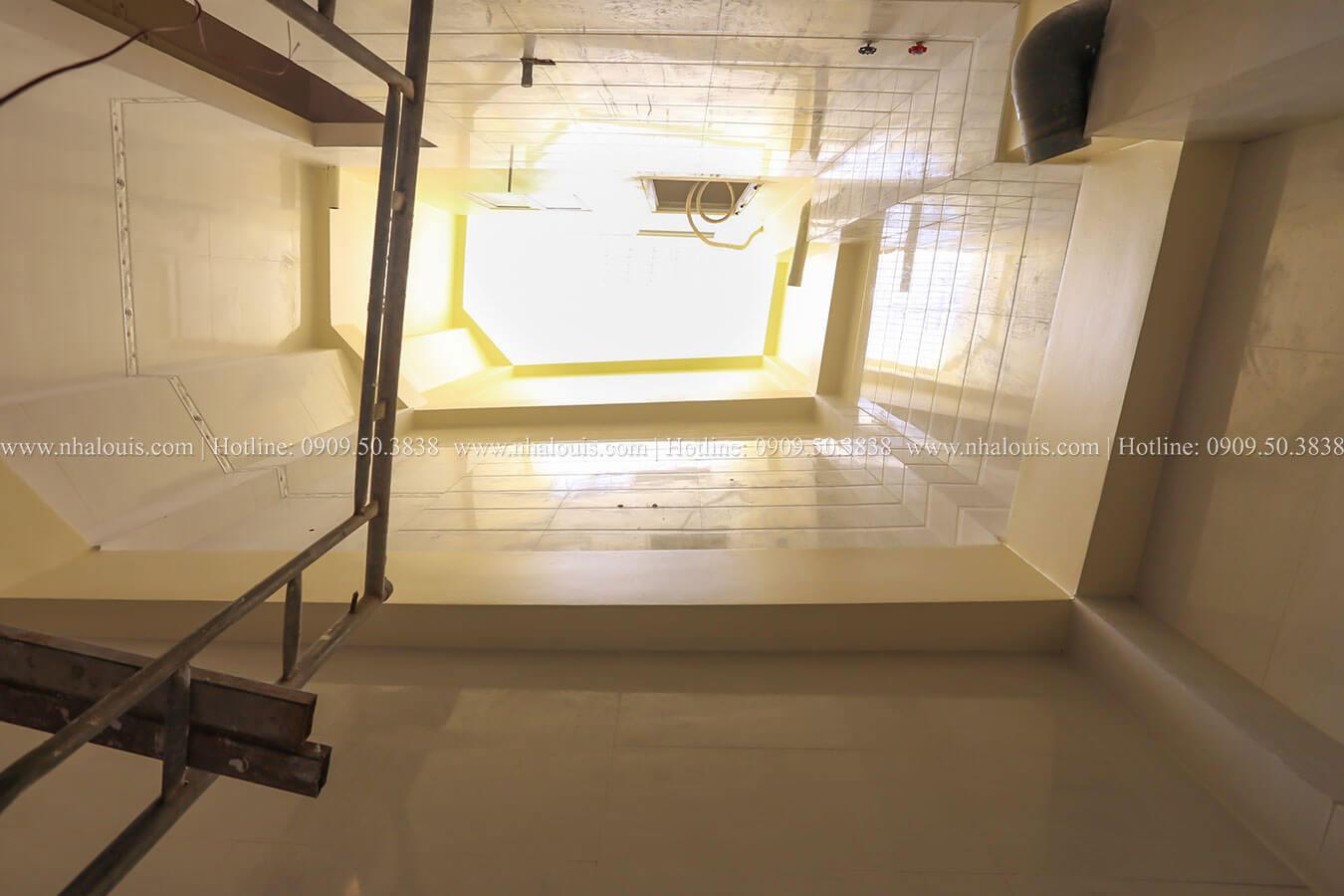 Thi công mẫu nhà phố 5 tầng hiện đại tại quận 6