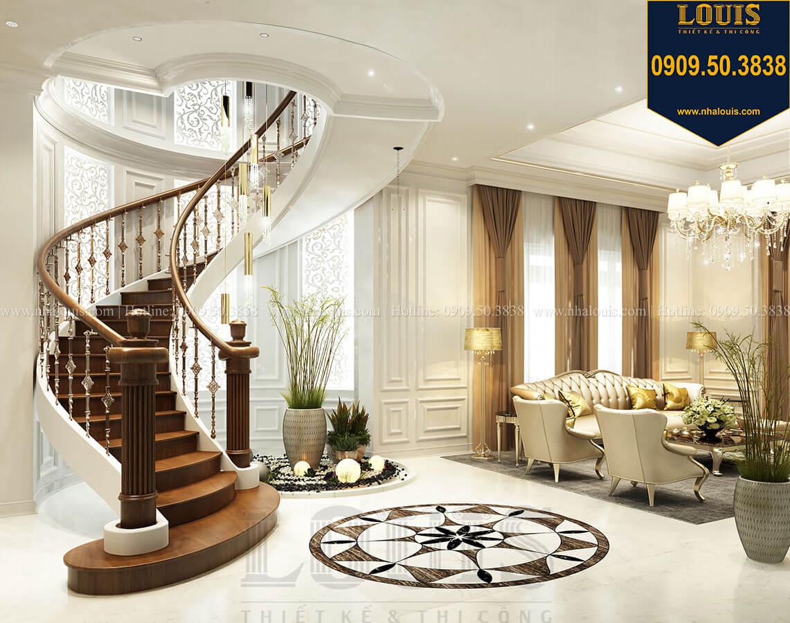 Cầu thang Thiết kế mẫu biệt thự tân cổ điển 3 tầng đậm chất Tây tại Vũng Tàu - 06