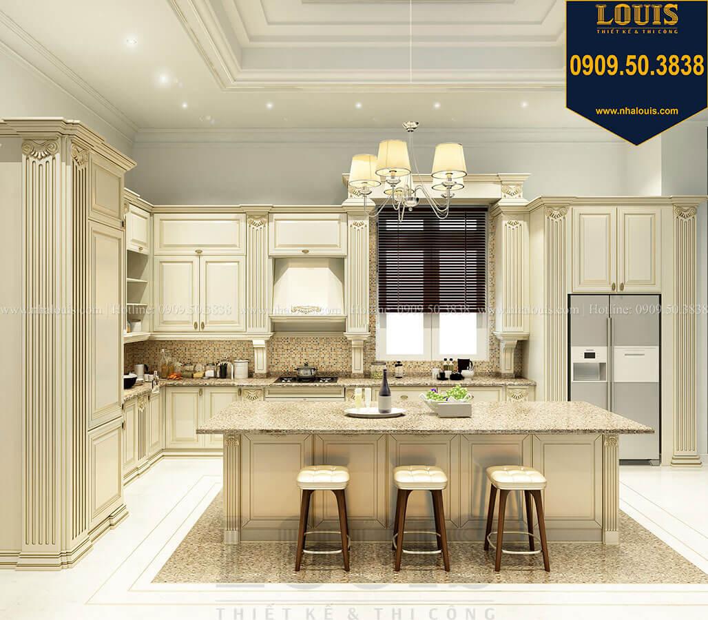 Phòng bếp Thiết kế mẫu biệt thự tân cổ điển 3 tầng đậm chất Tây tại Vũng Tàu - 14