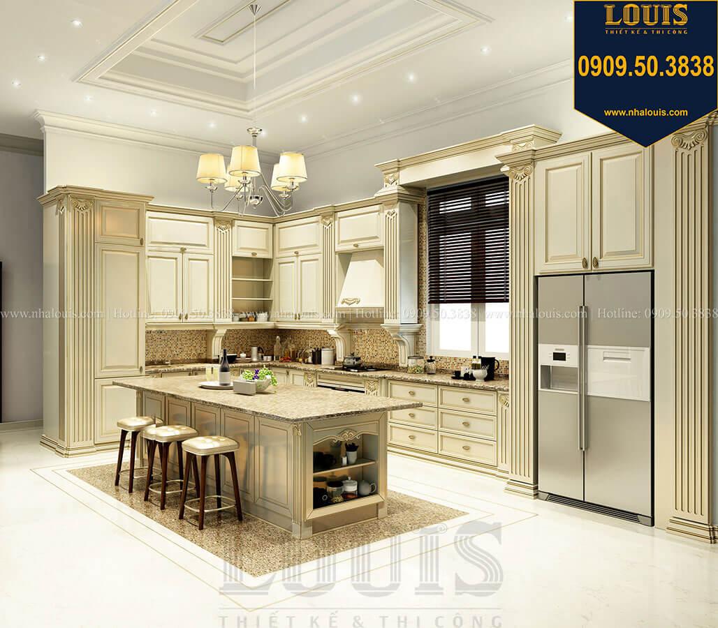 Phòng bếp Thiết kế mẫu biệt thự tân cổ điển 3 tầng đậm chất Tây tại Vũng Tàu - 15