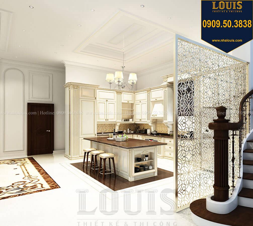 Phòng bếp Thiết kế mẫu biệt thự tân cổ điển 3 tầng đậm chất Tây tại Vũng Tàu - 16