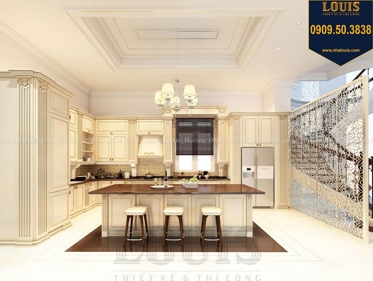 Phòng bếp Thiết kế mẫu biệt thự tân cổ điển 3 tầng đậm chất Tây tại Vũng Tàu - 17