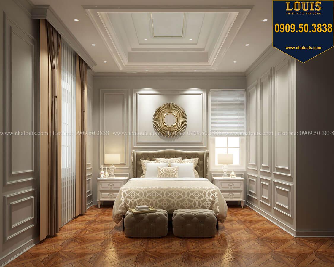 Phòng ngủ master Thiết kế mẫu biệt thự tân cổ điển 3 tầng đậm chất Tây tại Vũng Tàu - 18