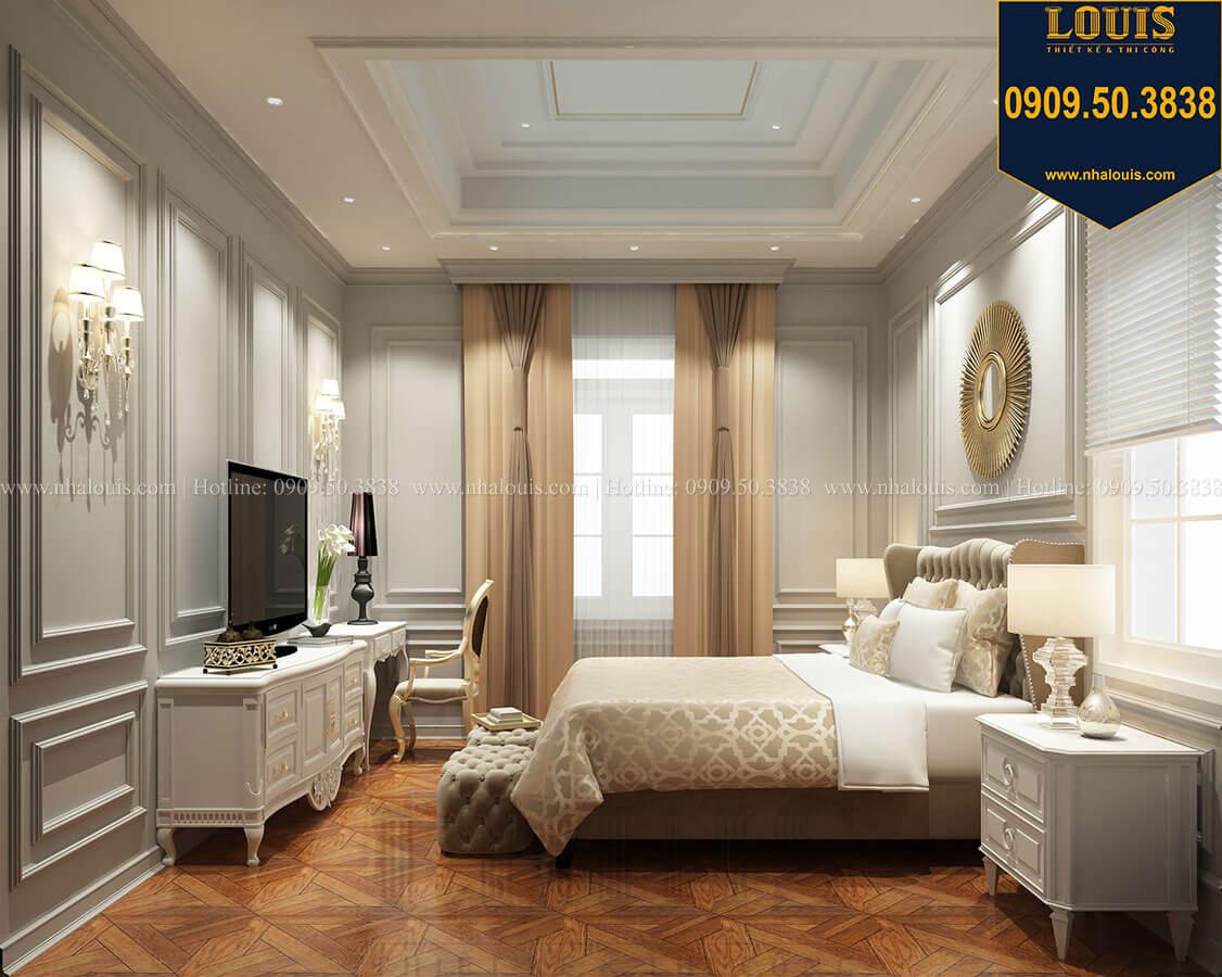 Phòng ngủ master Thiết kế mẫu biệt thự tân cổ điển 3 tầng đậm chất Tây tại Vũng Tàu - 19