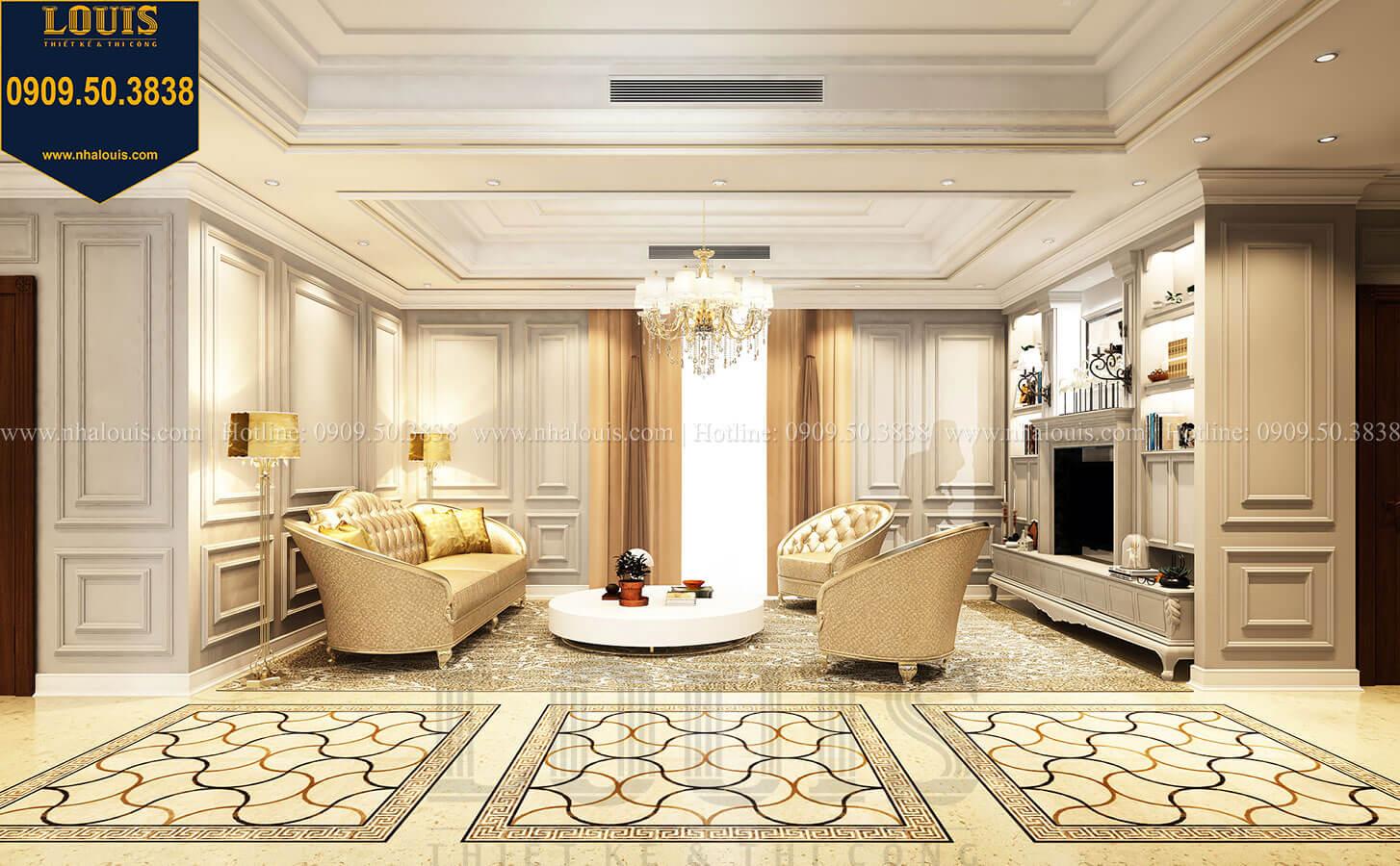 Phòng sinh hoạt chung Thiết kế mẫu biệt thự tân cổ điển 3 tầng đậm chất Tây tại Vũng Tàu - 22