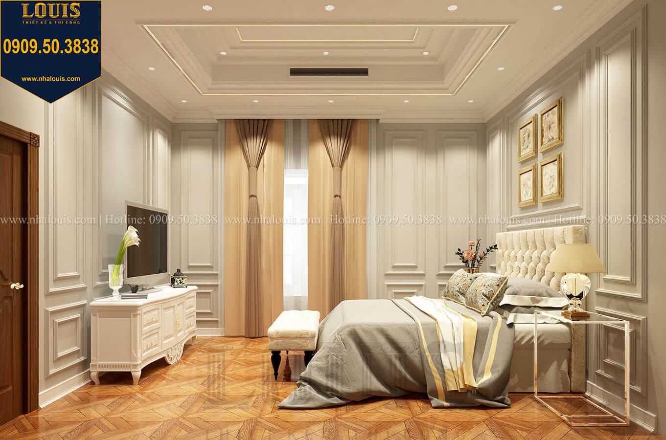 Phòng ngủ Thiết kế mẫu biệt thự tân cổ điển 3 tầng đậm chất Tây tại Vũng Tàu - 26