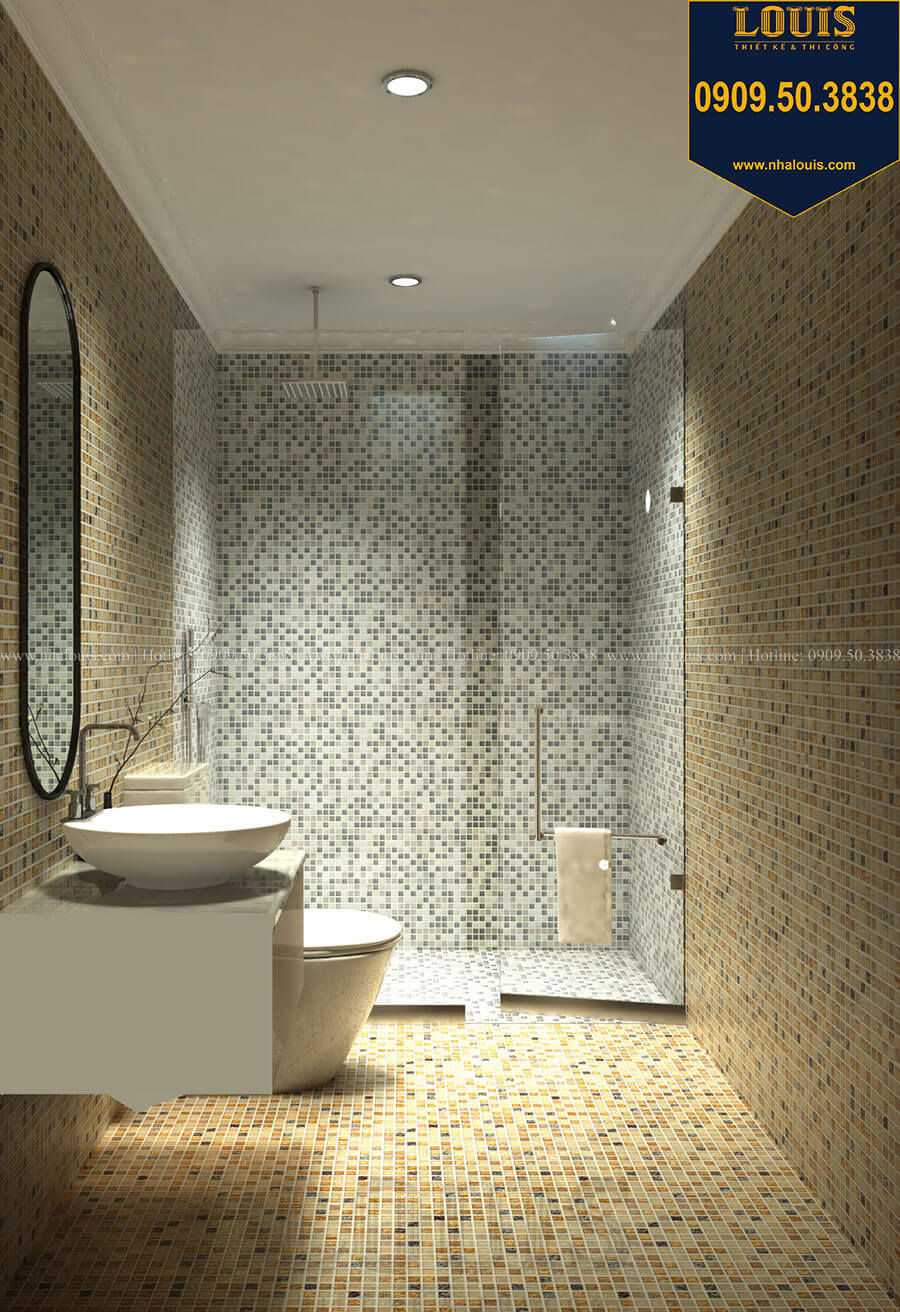 Nhà tắm và WC Thiết kế mẫu biệt thự tân cổ điển 3 tầng đậm chất Tây tại Vũng Tàu - 29