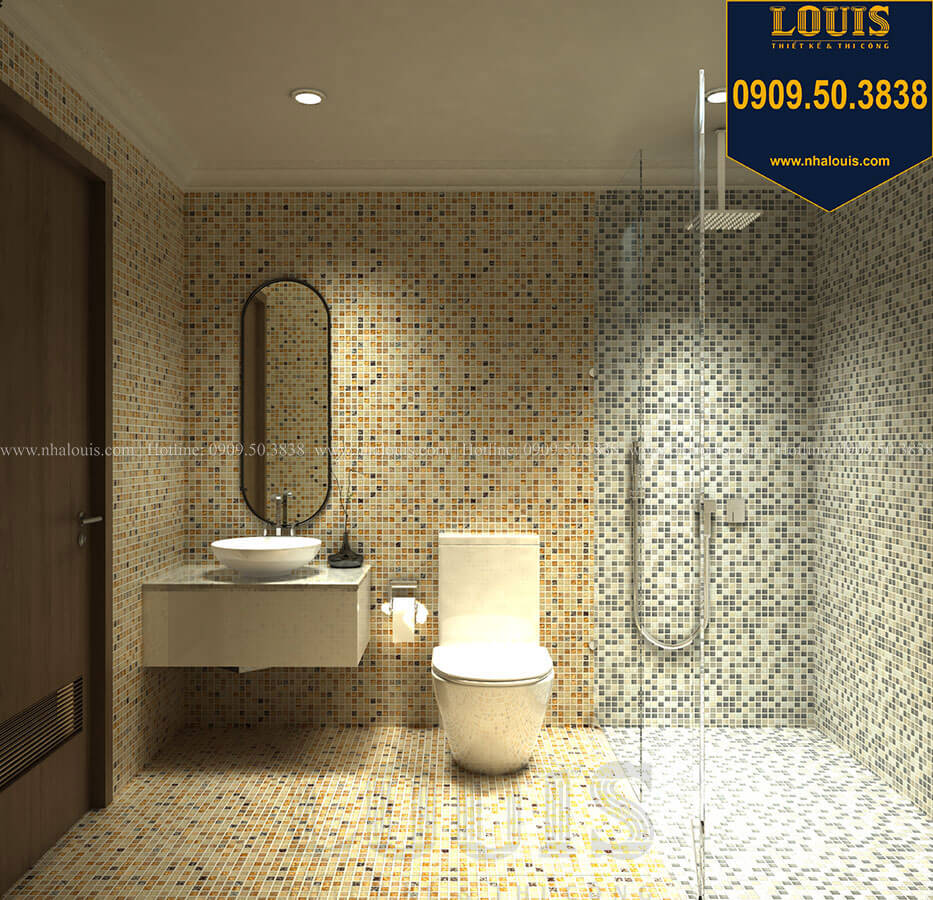 Nhà tắm và WC Thiết kế mẫu biệt thự tân cổ điển 3 tầng đậm chất Tây tại Vũng Tàu - 30