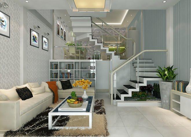 Thiết kế nhà ống có tầng lửng làm phòng khách và những điều cần lưu ý