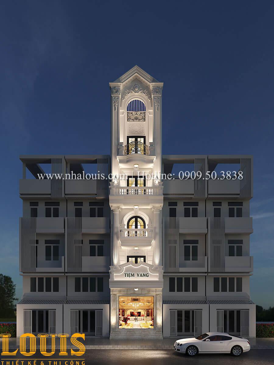 Thiết kế nhà tân cổ điển 6 tầng phong cách thời thượng tại Bình Chánh - 01