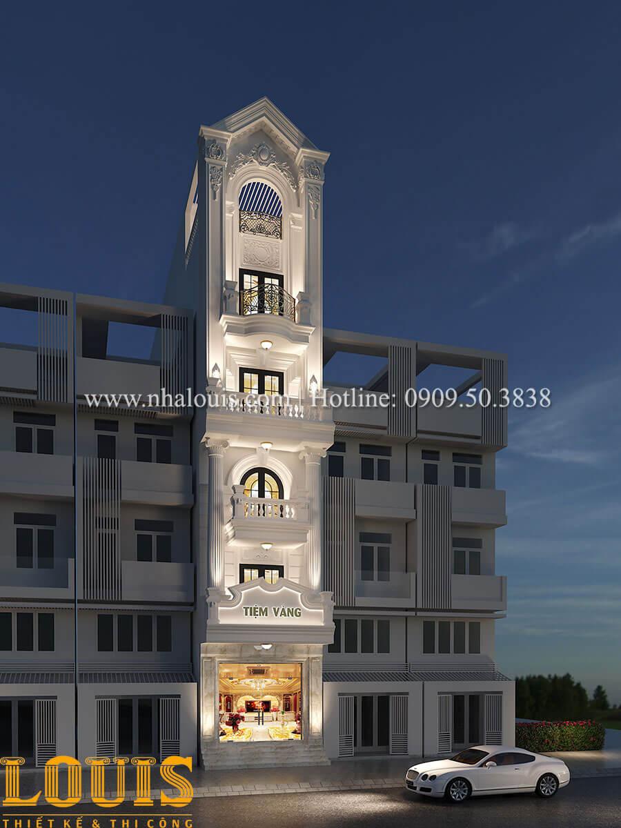 Thiết kế nhà tân cổ điển 6 tầng phong cách thời thượng tại Bình Chánh - 02