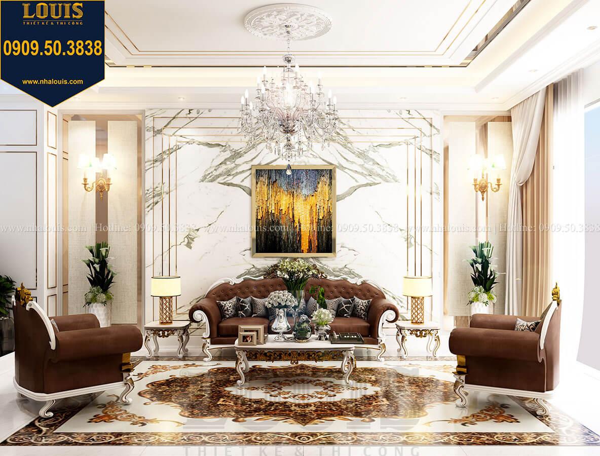 Phòng khách Thiết kế nhà tân cổ điển 6 tầng phong cách thời thượng tại Bình Chánh - 11