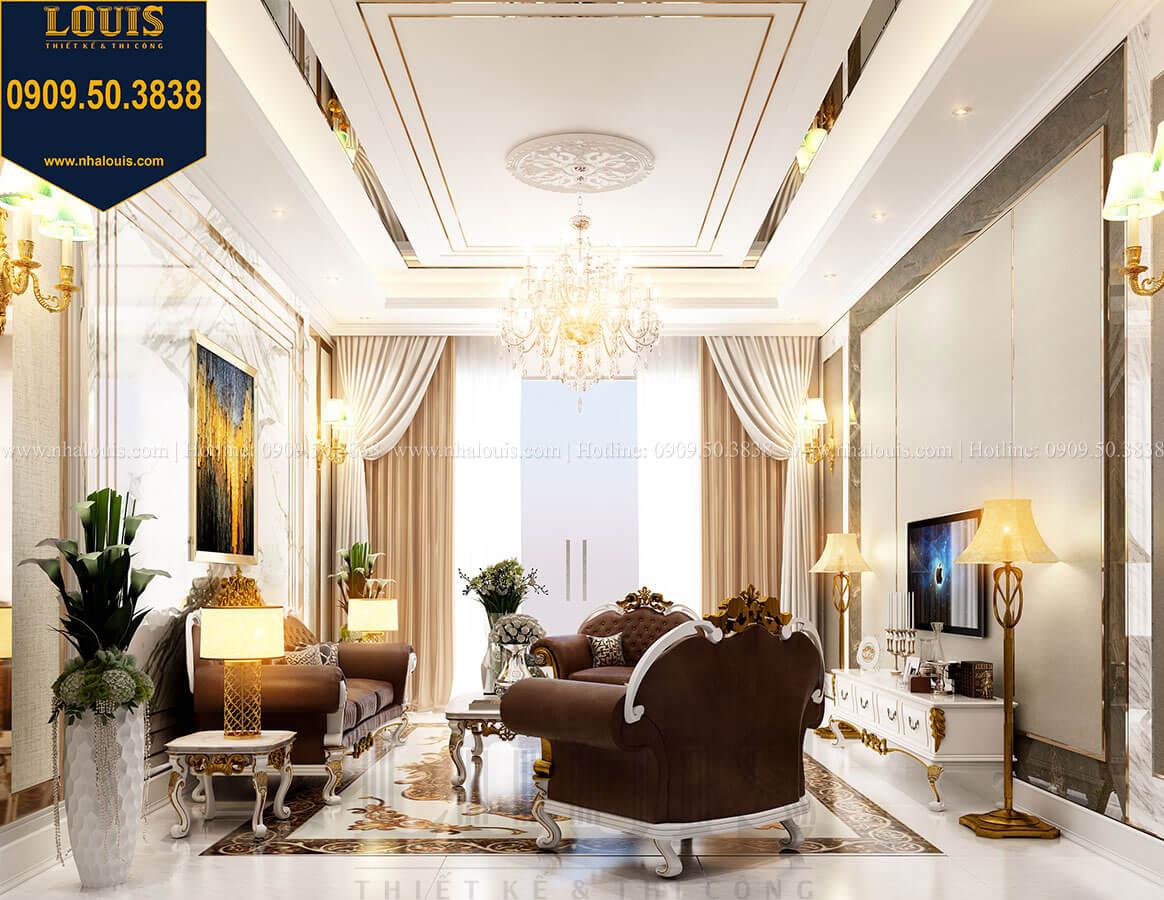 Phòng khách Thiết kế nhà tân cổ điển 6 tầng phong cách thời thượng tại Bình Chánh - 12