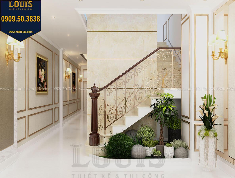 Phòng khách Thiết kế nhà tân cổ điển 6 tầng phong cách thời thượng tại Bình Chánh - 13