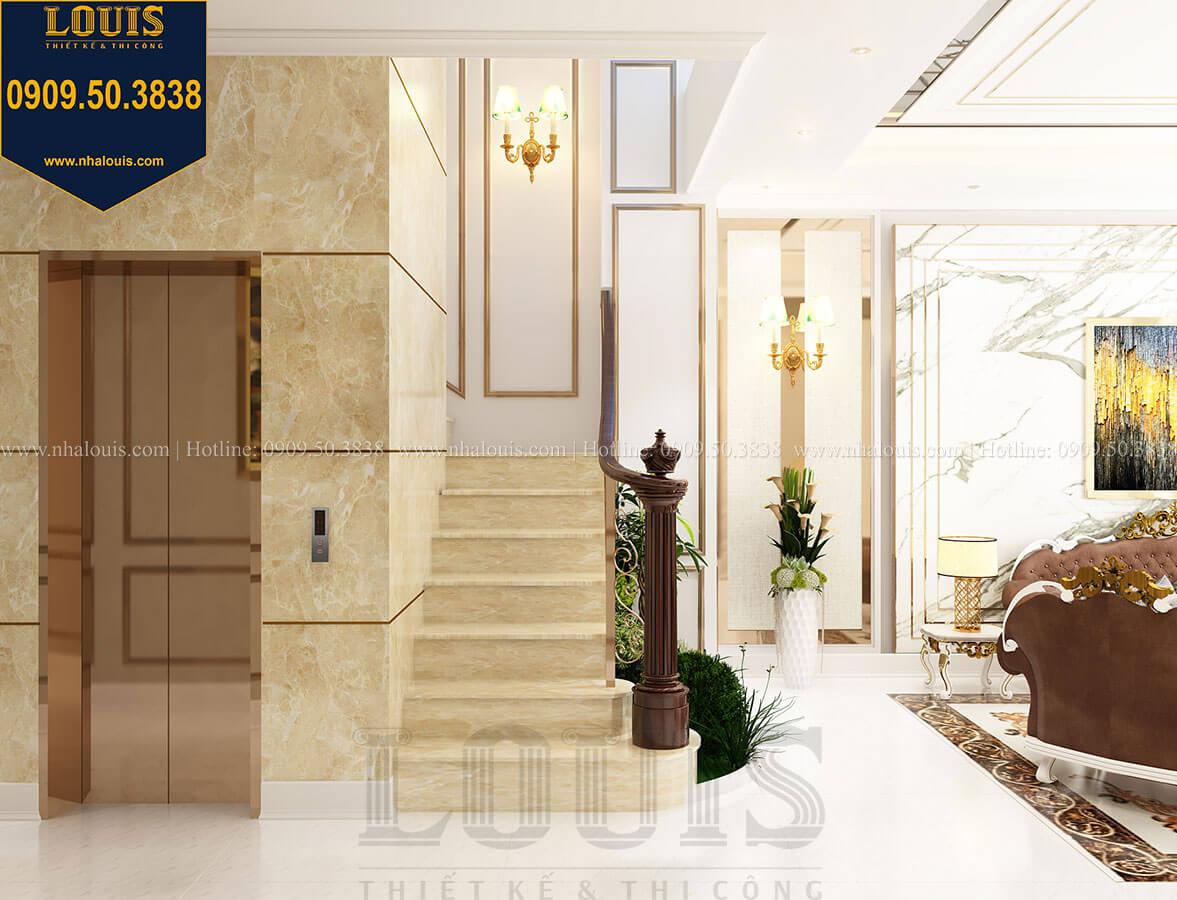 Phòng khách Thiết kế nhà tân cổ điển 6 tầng phong cách thời thượng tại Bình Chánh - 14