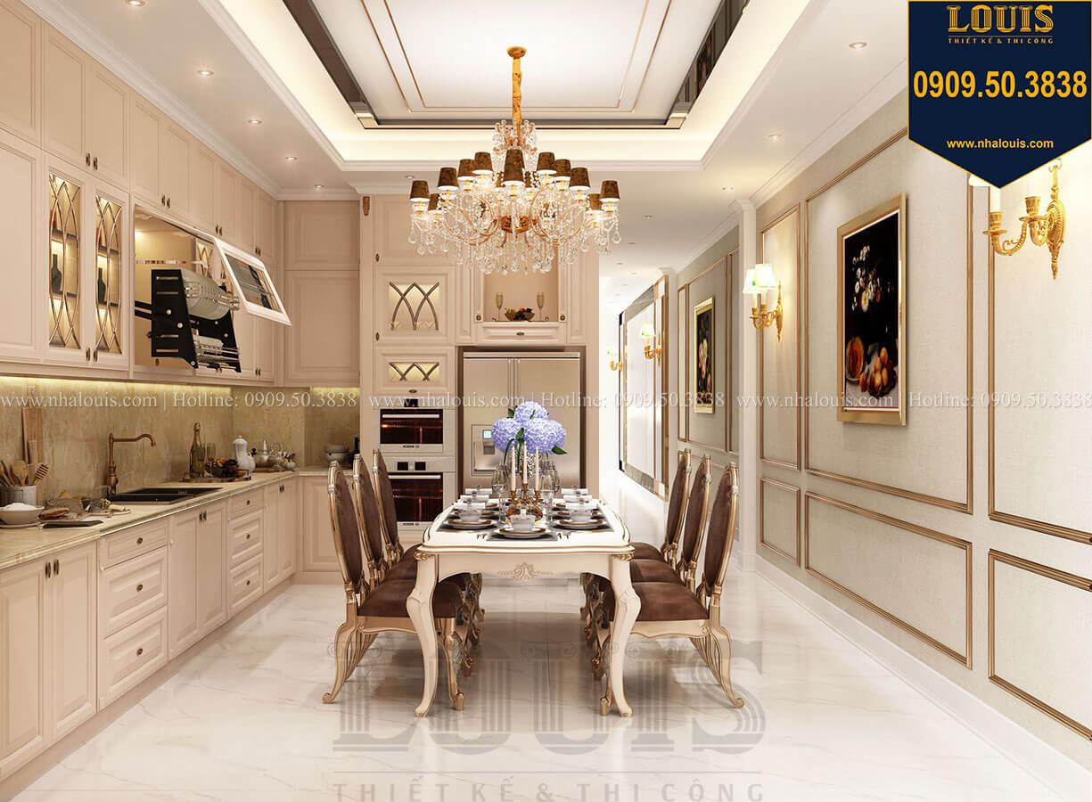 Phòng ăn Thiết kế nhà tân cổ điển 6 tầng phong cách thời thượng tại Bình Chánh - 16