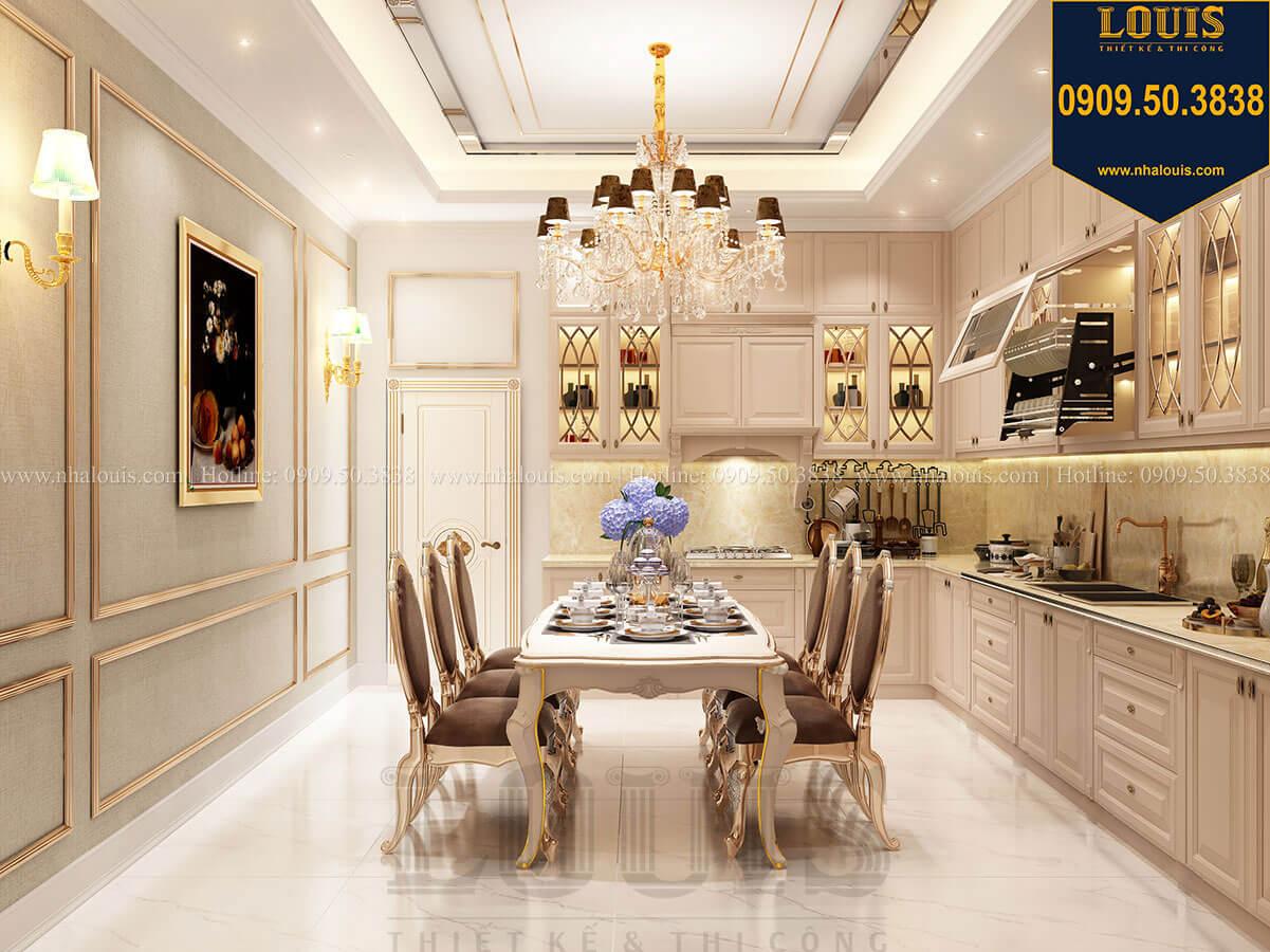 Phòng ăn Thiết kế nhà tân cổ điển 6 tầng phong cách thời thượng tại Bình Chánh - 17