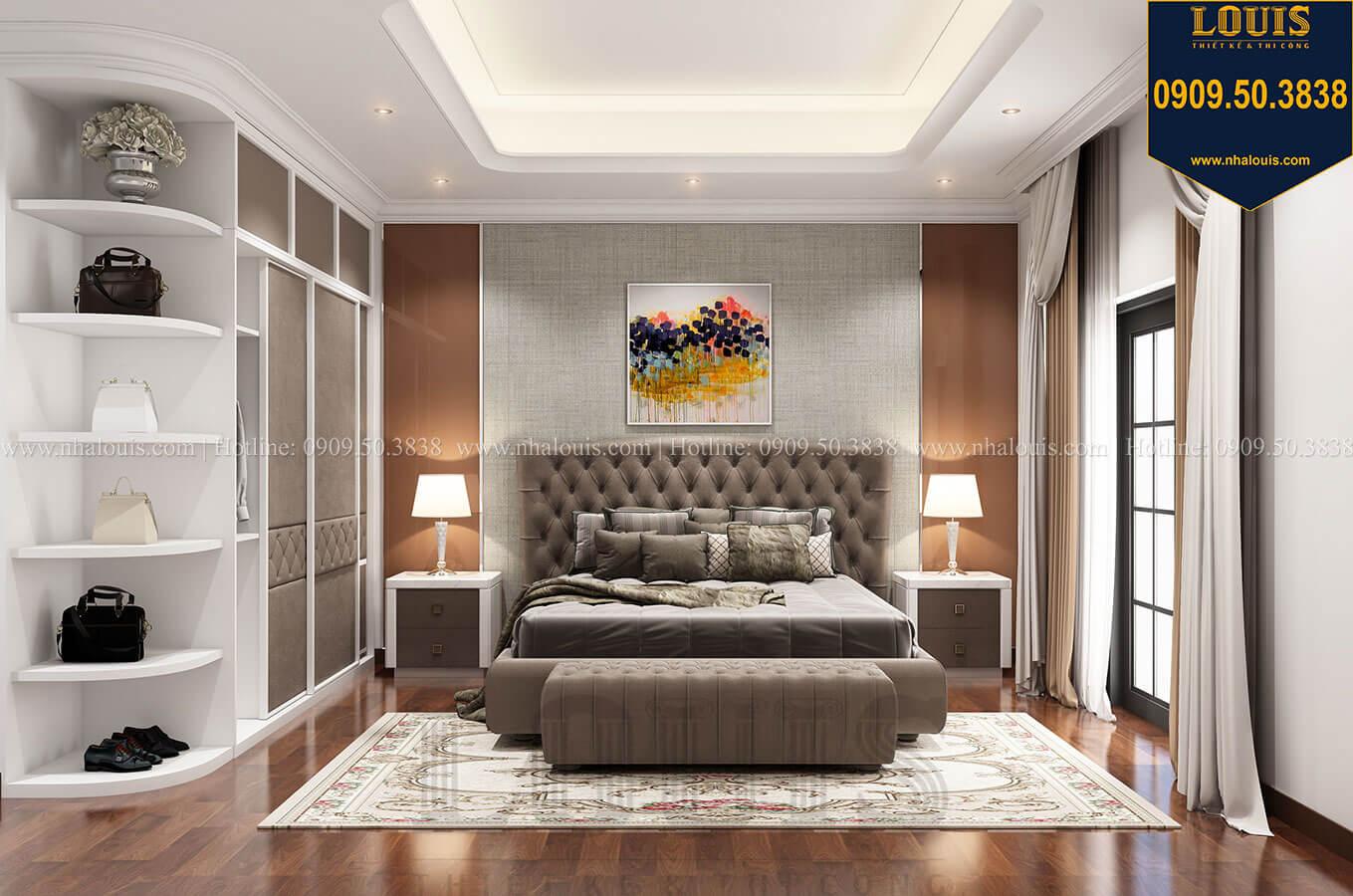 Phòng ngủ master Thiết kế nhà tân cổ điển 6 tầng phong cách thời thượng tại Bình Chánh - 18