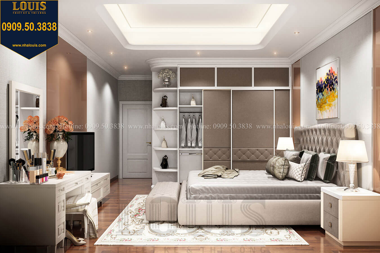 Phòng ngủ master Thiết kế nhà tân cổ điển 6 tầng phong cách thời thượng tại Bình Chánh - 19