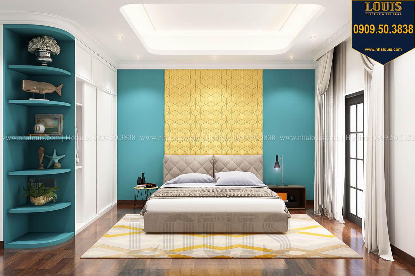Phòng ngủ con trai Thiết kế nhà tân cổ điển 6 tầng phong cách thời thượng tại Bình Chánh - 20