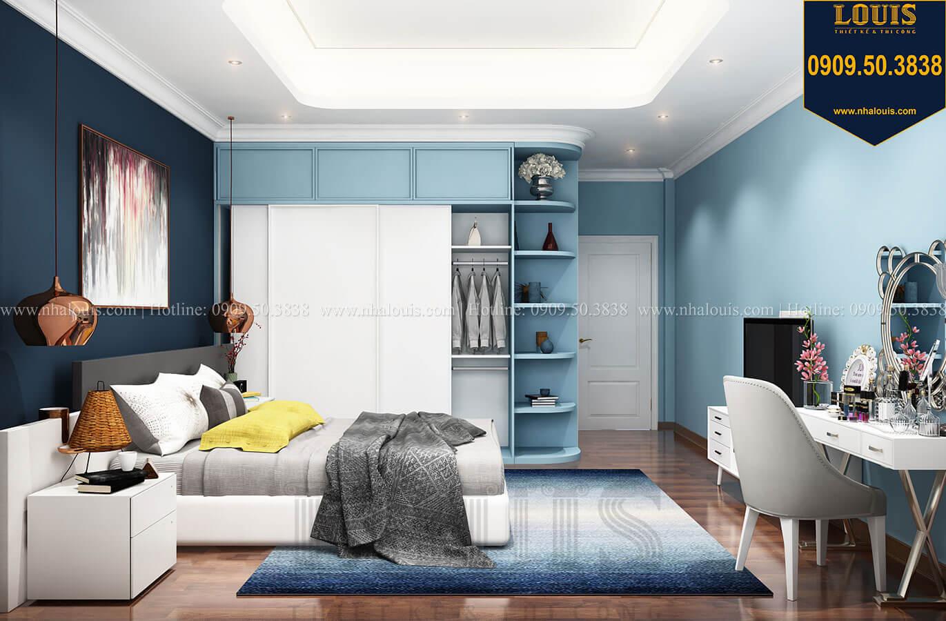 Phòng ngủ con gái Thiết kế nhà tân cổ điển 6 tầng phong cách thời thượng tại Bình Chánh - 22