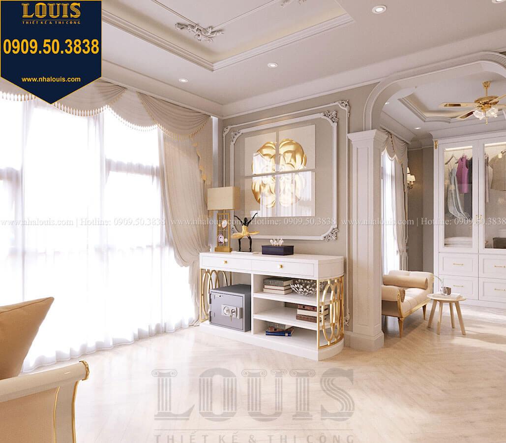 Phòng ngủ master Mẫu biệt thự hiện đại 3 tầng có tầng hầm độc đáo tại Nhà Bè - 25