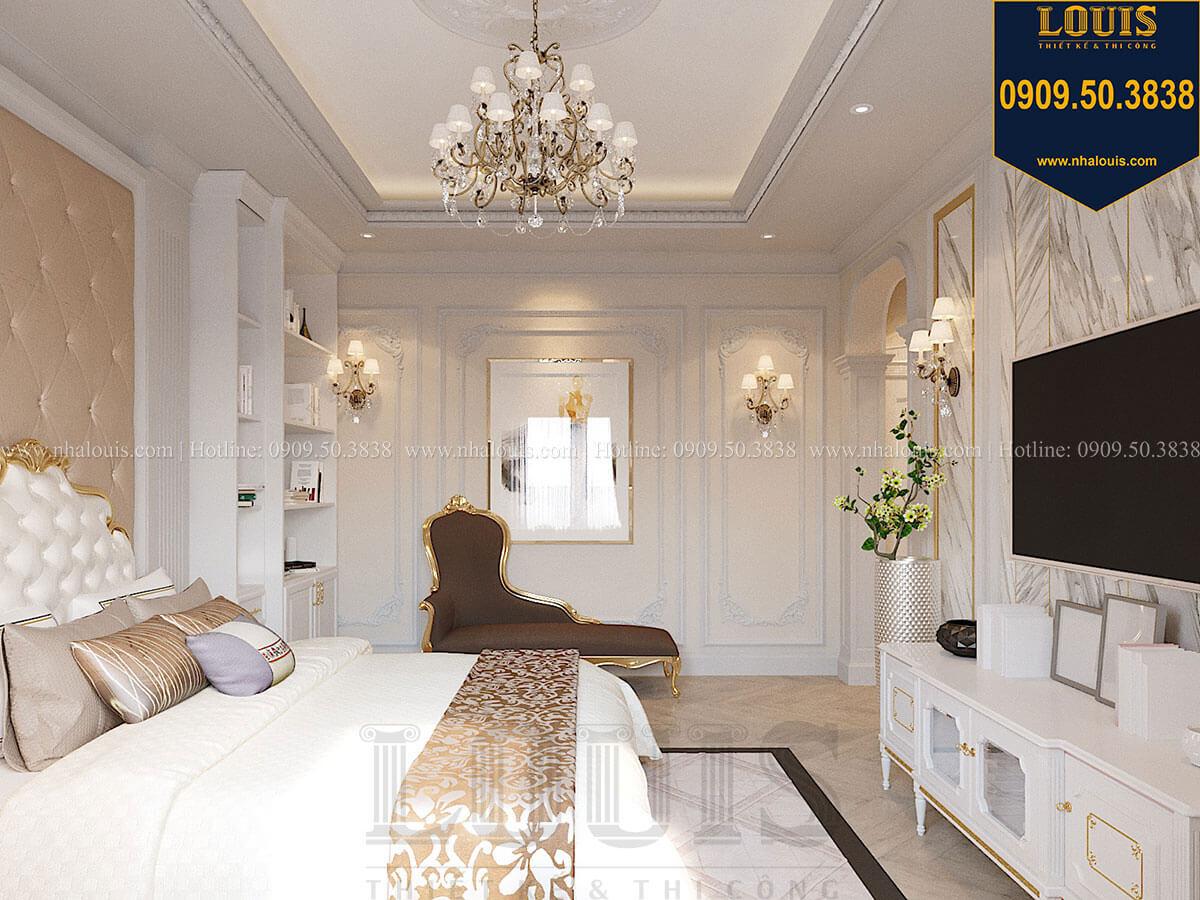 Phòng ngủ Mẫu biệt thự hiện đại 3 tầng có tầng hầm độc đáo tại Nhà Bè - 31