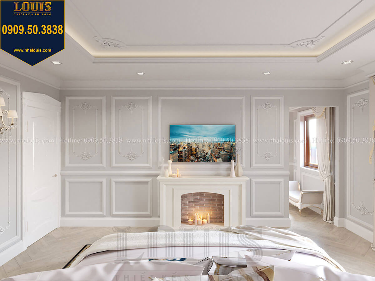Phòng ngủ Mẫu biệt thự hiện đại 3 tầng có tầng hầm độc đáo tại Nhà Bè - 38