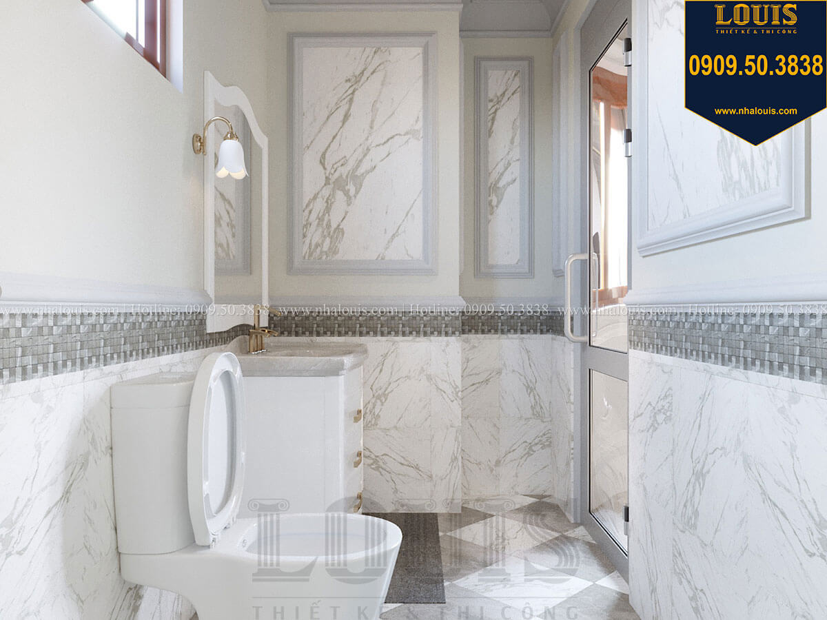 Phòng tắm và WC Mẫu biệt thự hiện đại 3 tầng có tầng hầm độc đáo tại Nhà Bè - 42