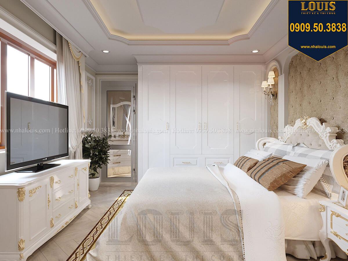 Phòng ngủ Mẫu biệt thự hiện đại 3 tầng có tầng hầm độc đáo tại Nhà Bè - 48