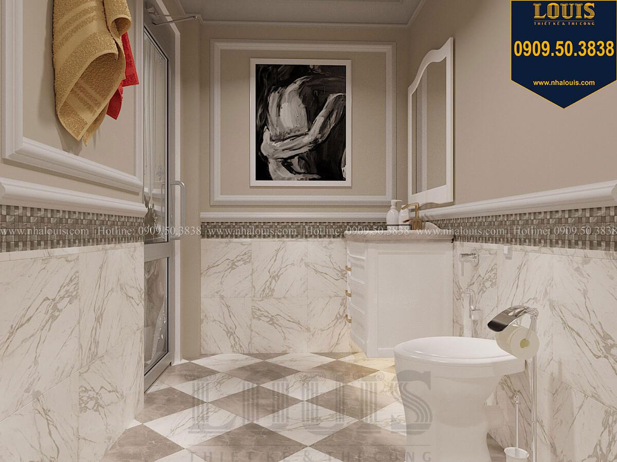 Phòng tắm và WC Mẫu biệt thự hiện đại 3 tầng có tầng hầm độc đáo tại Nhà Bè - 50