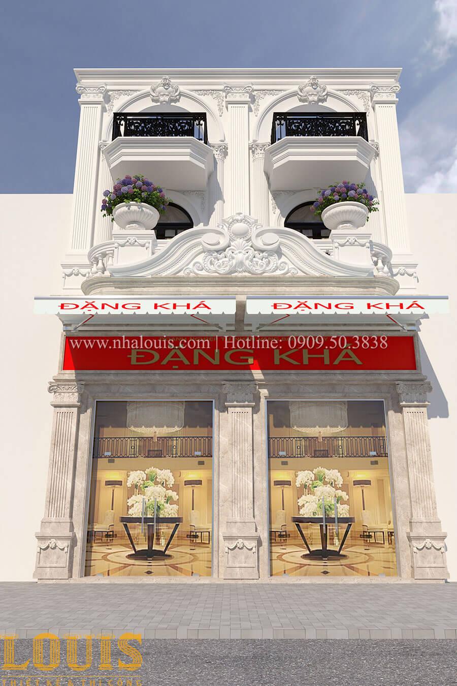 Mặt tiền Mẫu nhà 4 tầng kết hợp kinh doanh tiệm vàng tại Bến Tre - 02