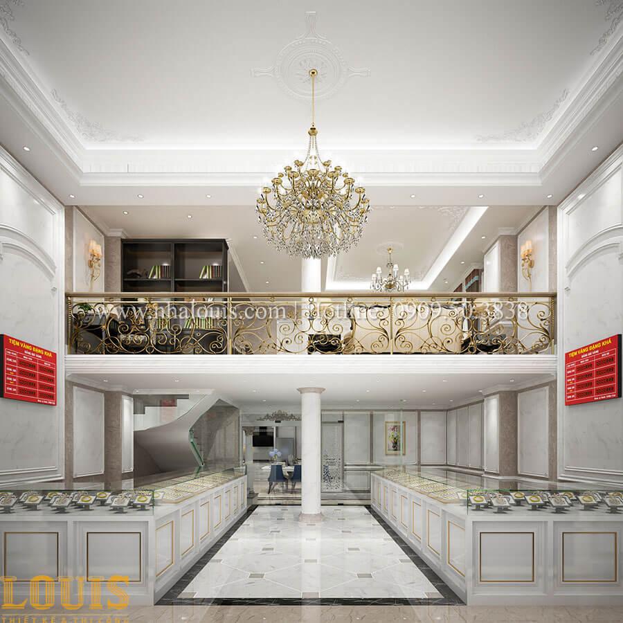 Khu vực kinh doanh vàng bạc, kim hoàn Mẫu nhà 4 tầng kết hợp kinh doanh tiệm vàng tại Bến Tre - 04