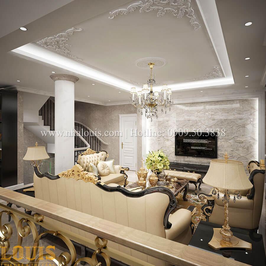 Phòng khách Mẫu nhà 4 tầng kết hợp kinh doanh tiệm vàng tại Bến Tre - 09