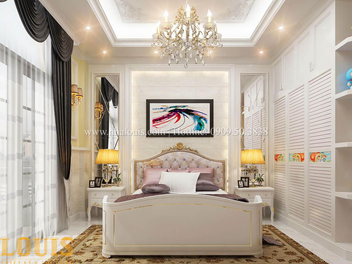 Phòng ngủ con gái Mẫu nhà 4 tầng kết hợp kinh doanh tiệm vàng tại Bến Tre - 23
