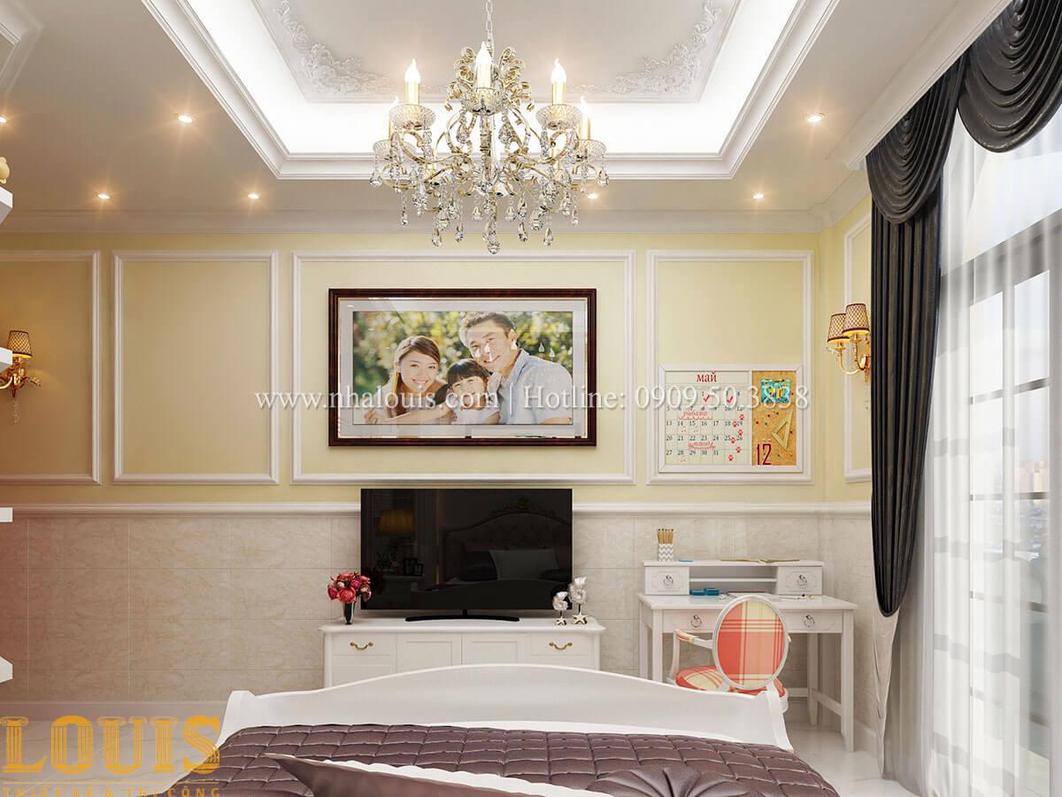 Phòng ngủ con gái Mẫu nhà 4 tầng kết hợp kinh doanh tiệm vàng tại Bến Tre - 24