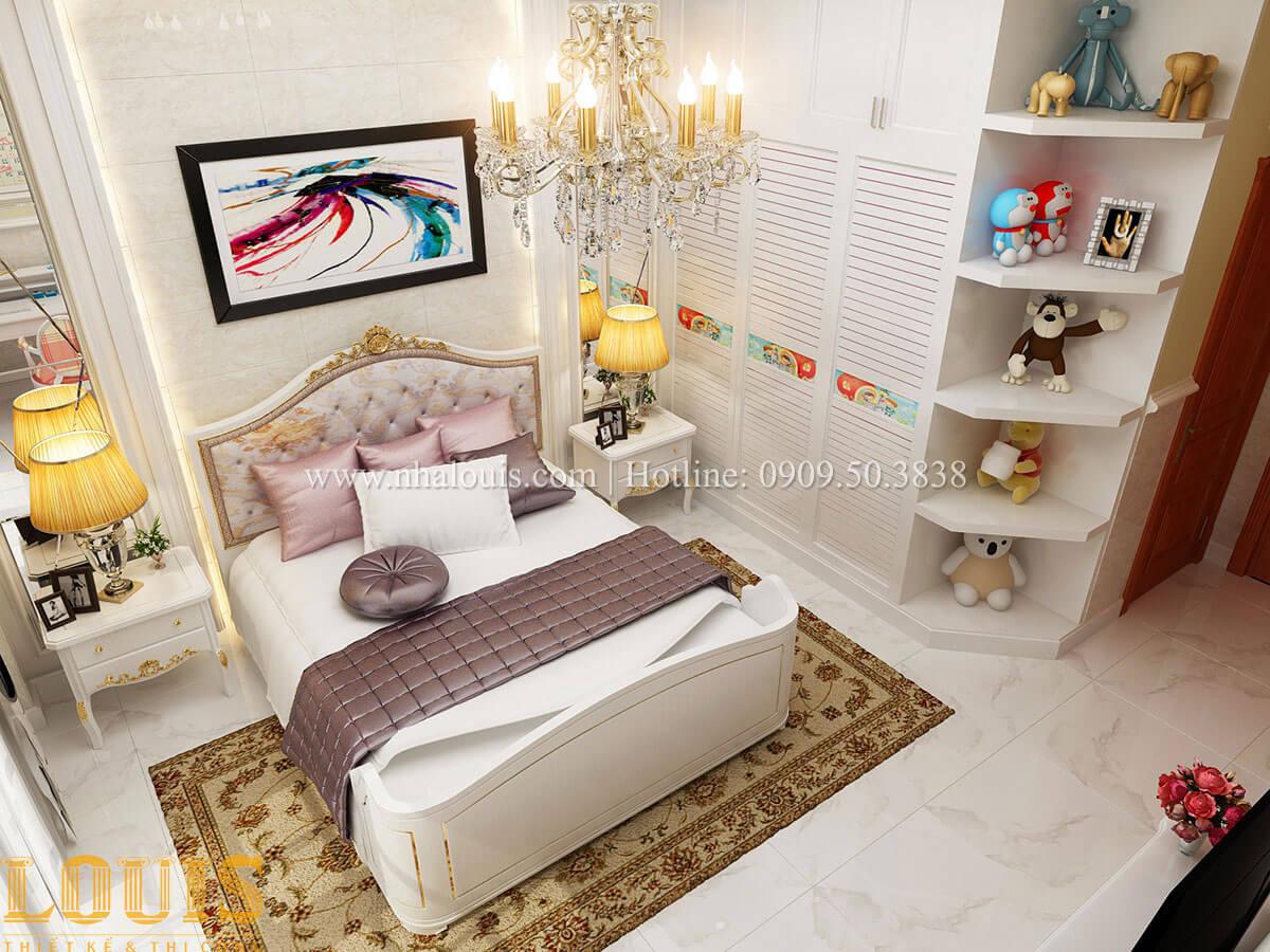 Phòng ngủ con gái Mẫu nhà 4 tầng kết hợp kinh doanh tiệm vàng tại Bến Tre - 26