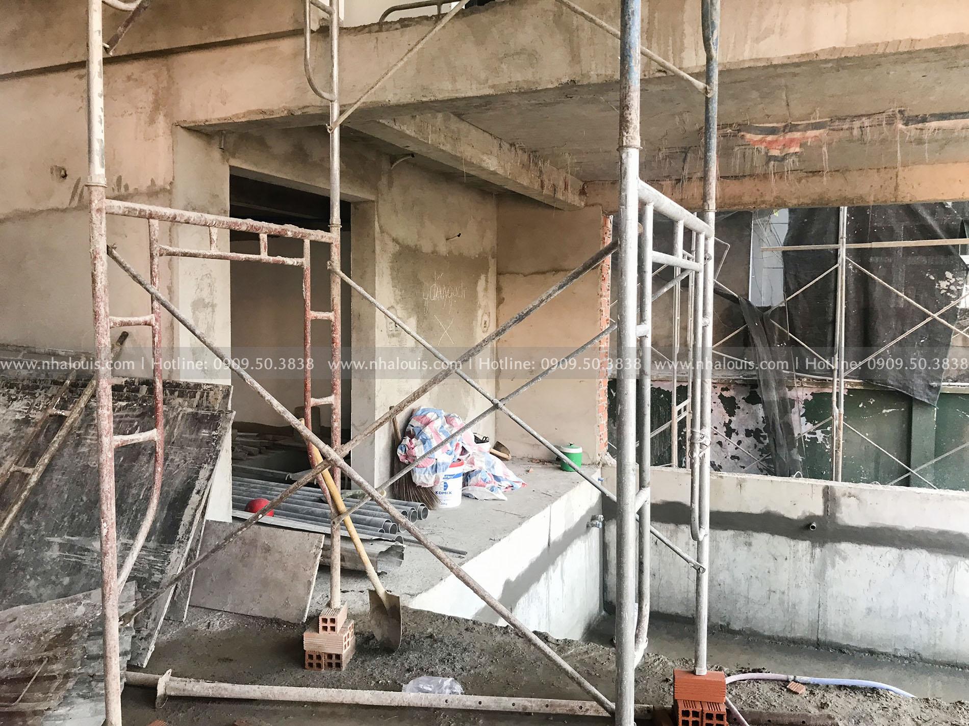 Thiết kế biệt thự hiện đại có tầng hầm kiên cố tại Bình Tân