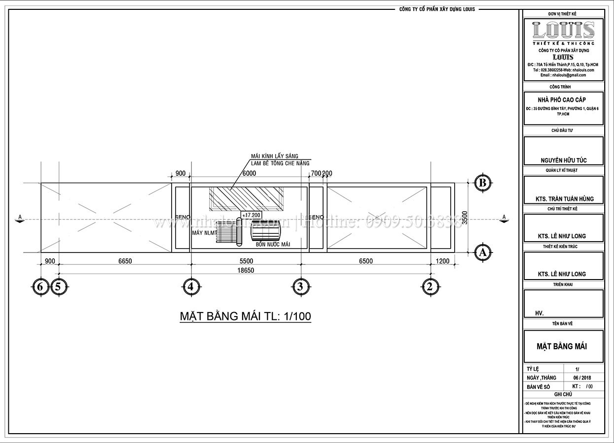 Thiết kế nhà phố tân cổ điển 5 tầng mặt tiền 3,5m tại Quận 6 - 09