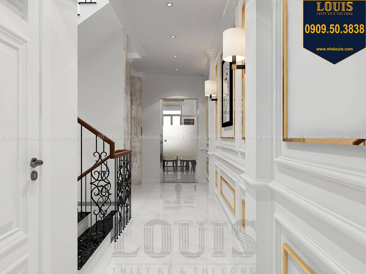 Hành lang Thiết kế nhà phố tân cổ điển 5 tầng mặt tiền 3,5m tại Quận 6 - 20